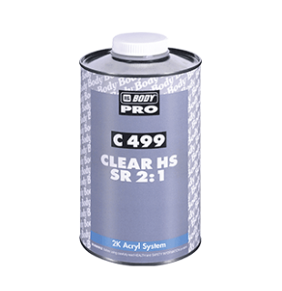 Akrilinis lakas BODY 499 HS Clear Coat 2+1 su kietikliu (komplektas)