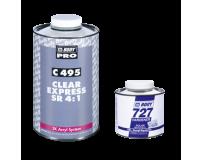 Akrilinis lakas BODY 495 EXPRESS Clear Coat 1l 4+1 su kietikliu (komplektas)