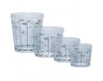 Plastikiniai dozavimo indeliai su dangteliais dažams 50vnt